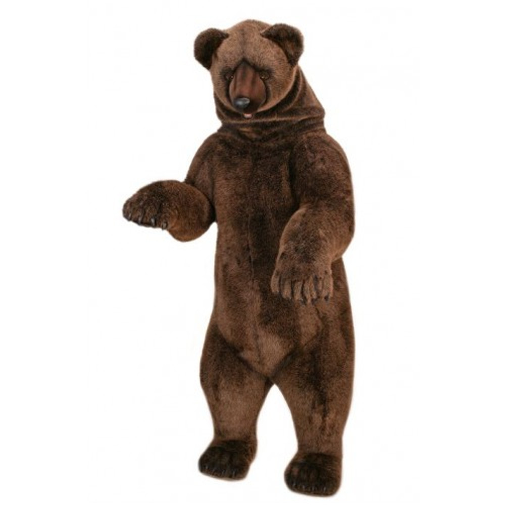 Grizzly Bear Giant Stuffed Animal Life Sized Standing Grizzly Bear