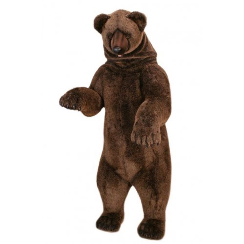 Grizzly Bear Life-Sized Stuffed Animal | Plush Standing Bear Statue | Hansa Toys | HTU4042