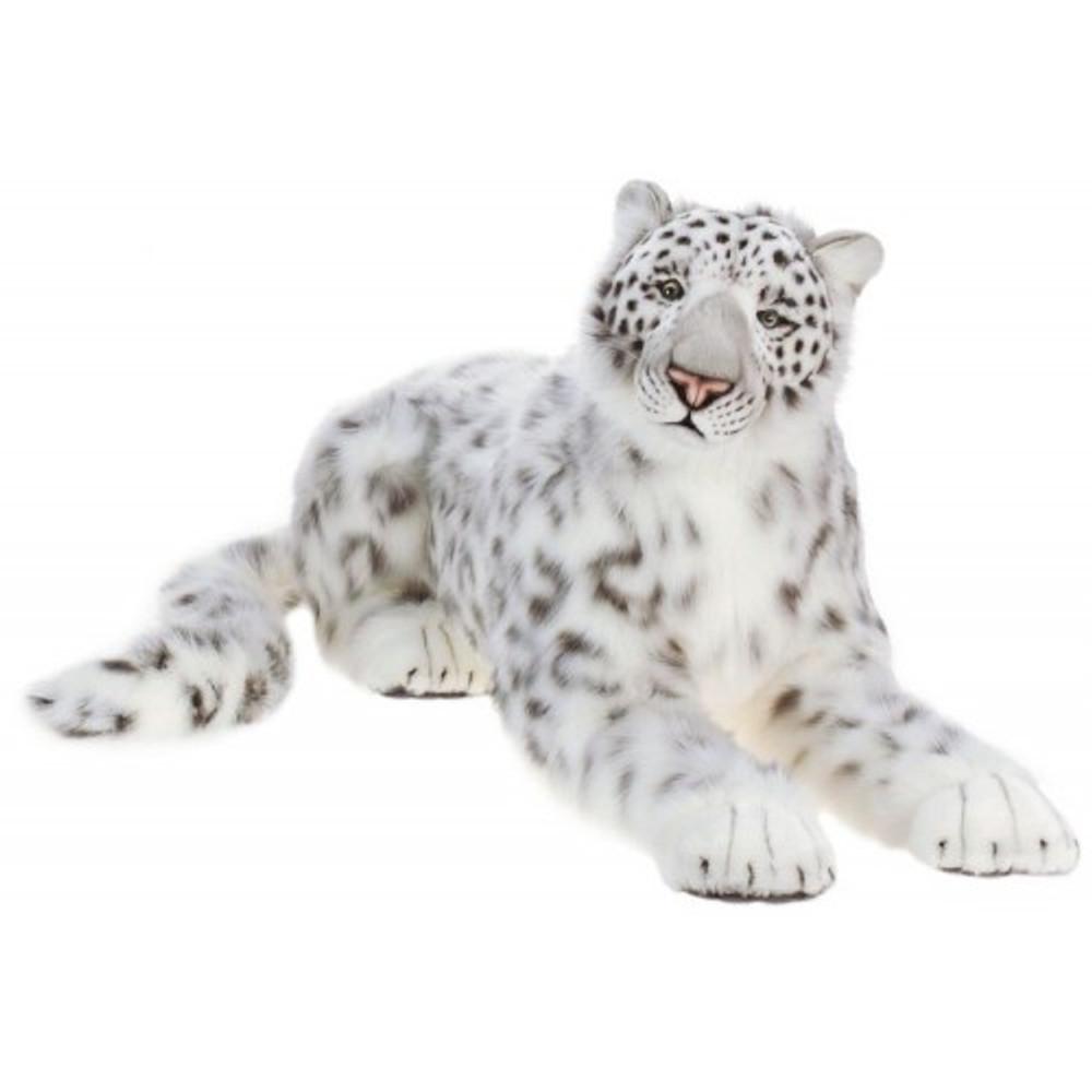 Snow Leopard Life-Sized Stuffed Animal | Plush Snow Leopard Statue | Hansa Toys | HTU4283