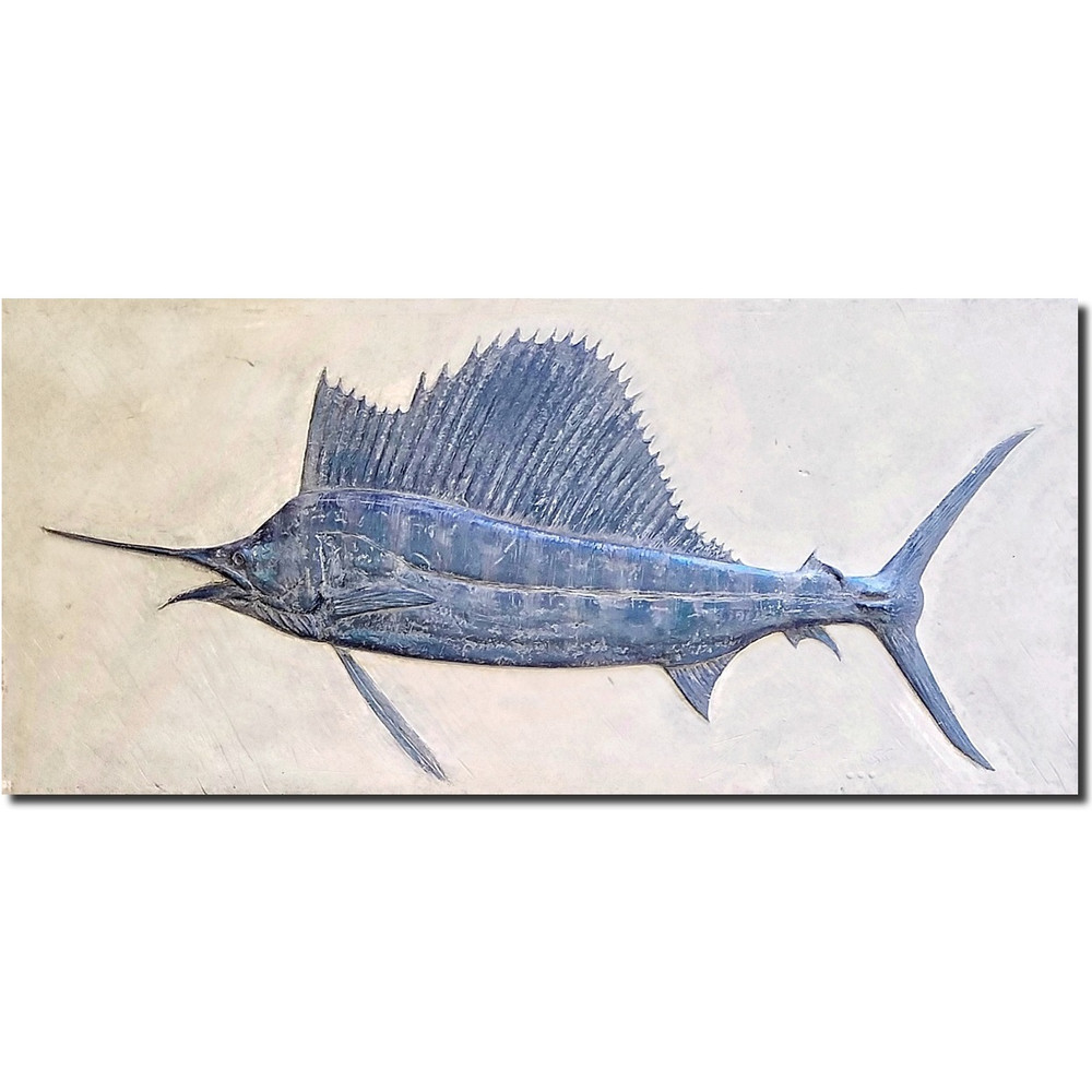 Sailfish Bas Relief Ltd Edition Wall Art | Rod Zullo