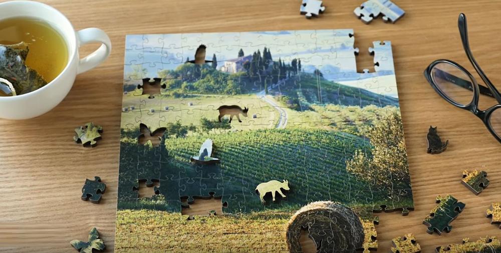 Sailboat Artisanal Wooden Jigsaw Puzzle   Sunrise Sail   Zen Art & Design   ZADSUNRISESAIL