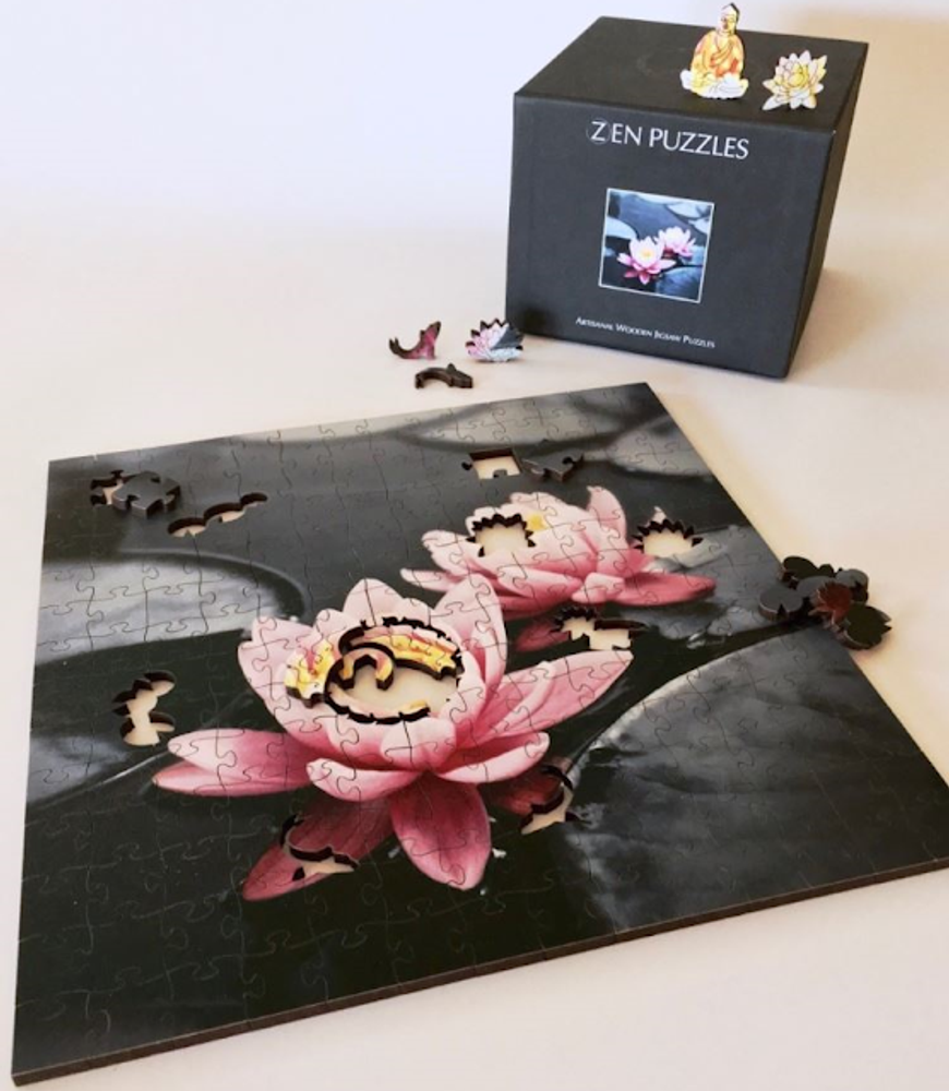 Water Dragon Artisanal Wooden Jigsaw Puzzle | Zen Art & Design | ZADWATERDRAGON