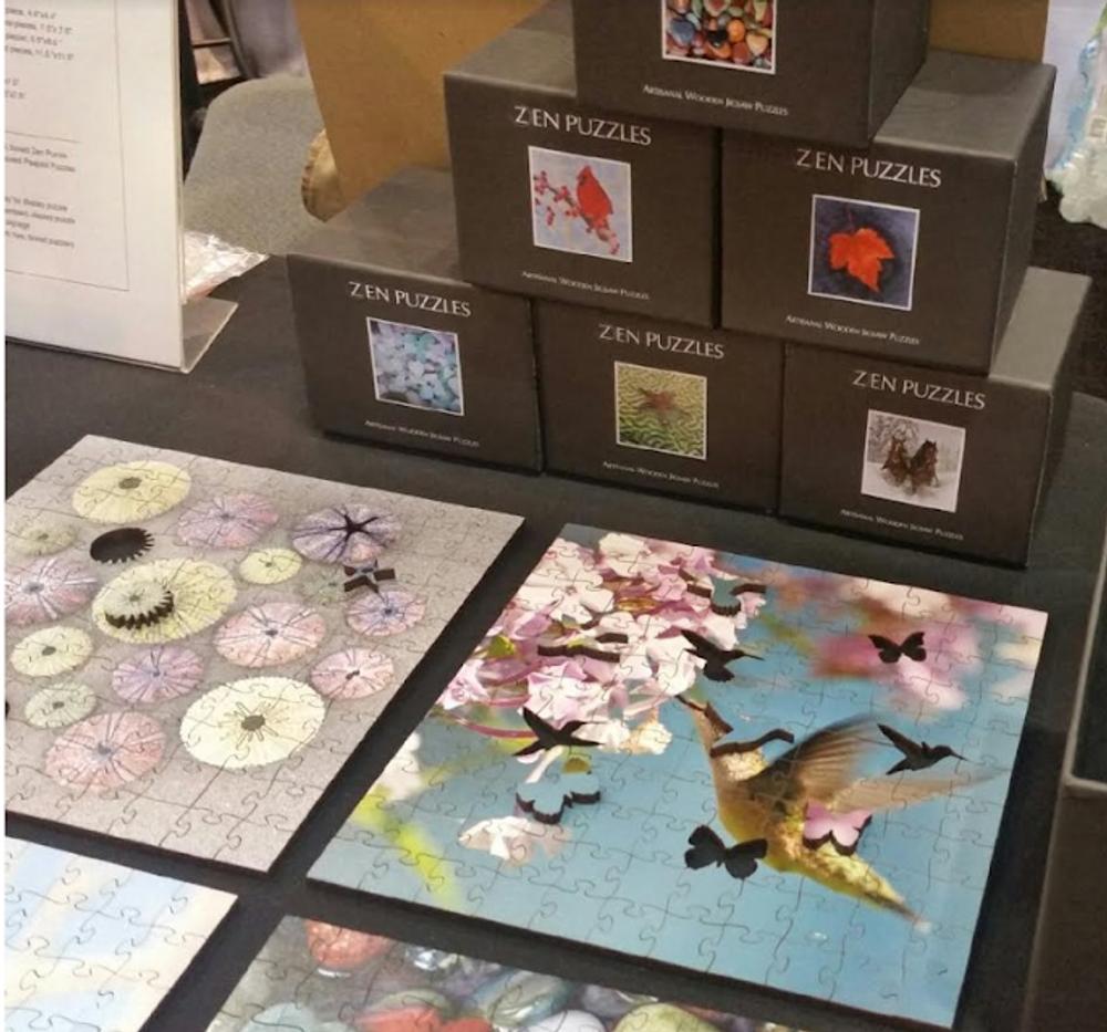 White Swan Artisanal Wooden Jigsaw Puzzle   Zen Art & Design   ZADWHITESWAN