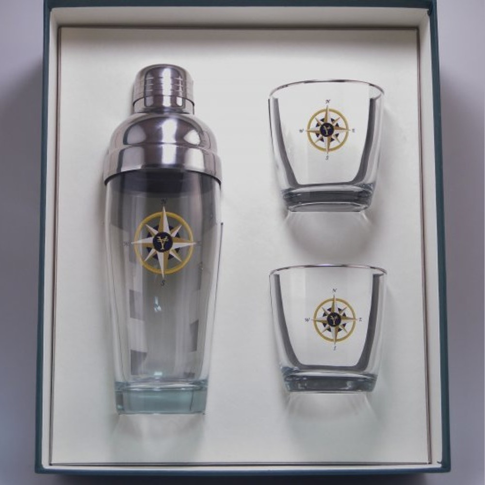 Compass Rose Cocktail Shaker Set | Richard Bishop | 2037COM