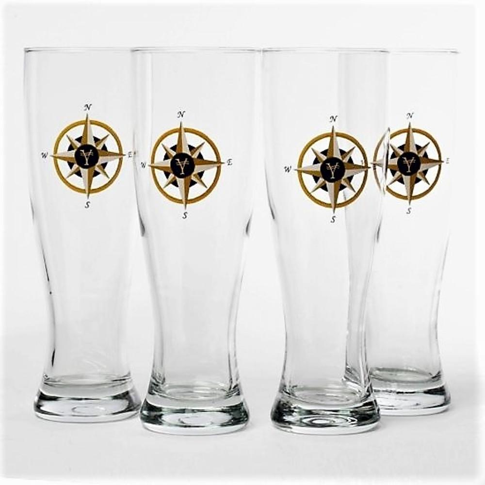 Compass Rose Pilsner Glass Set | Richard Bishop | 2041COM