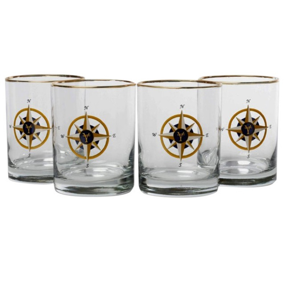 Compass Rose Double Old Fashioned Glass Set | Richard Bishop | 2026COM