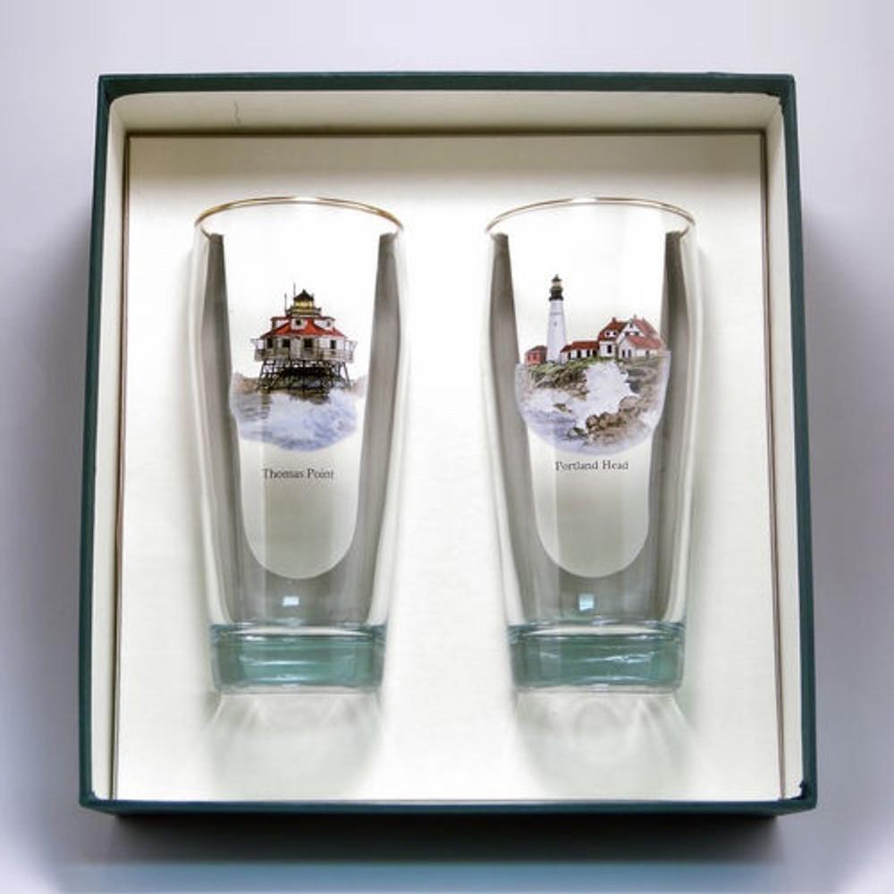 Lighthouse Beer Glass Set | Richard Bishop | 2043LIG
