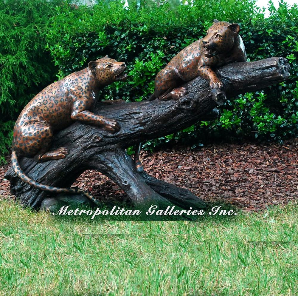 Leopards on Branch Bronze Statue | Metropolitan Galleries | SRB48237