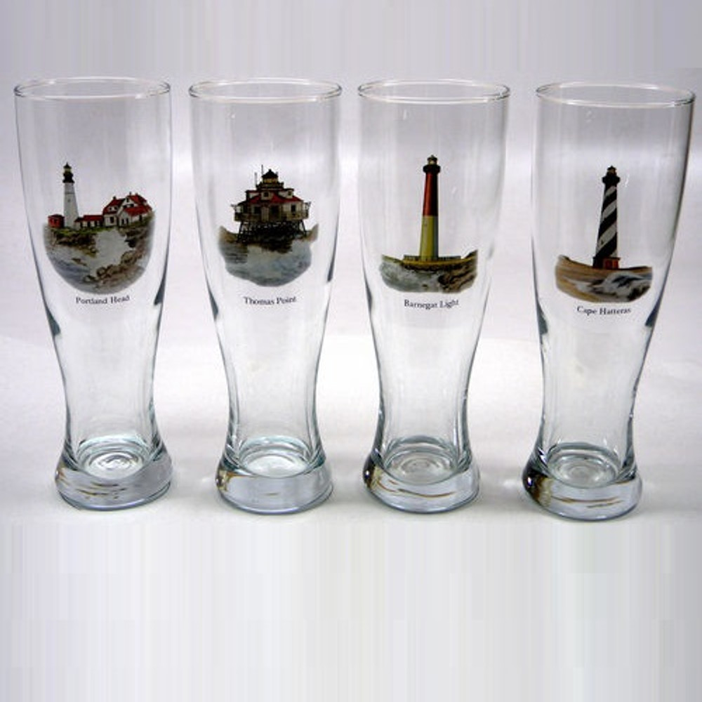 Lighthouse Pilsner Glass Set   Richard Bishop   2041LIG