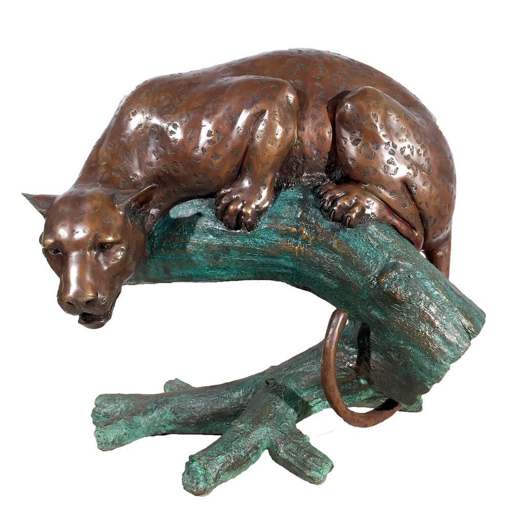 Leopard on Branch Bronze Statue   Metropolitan Galleries   SRB46704