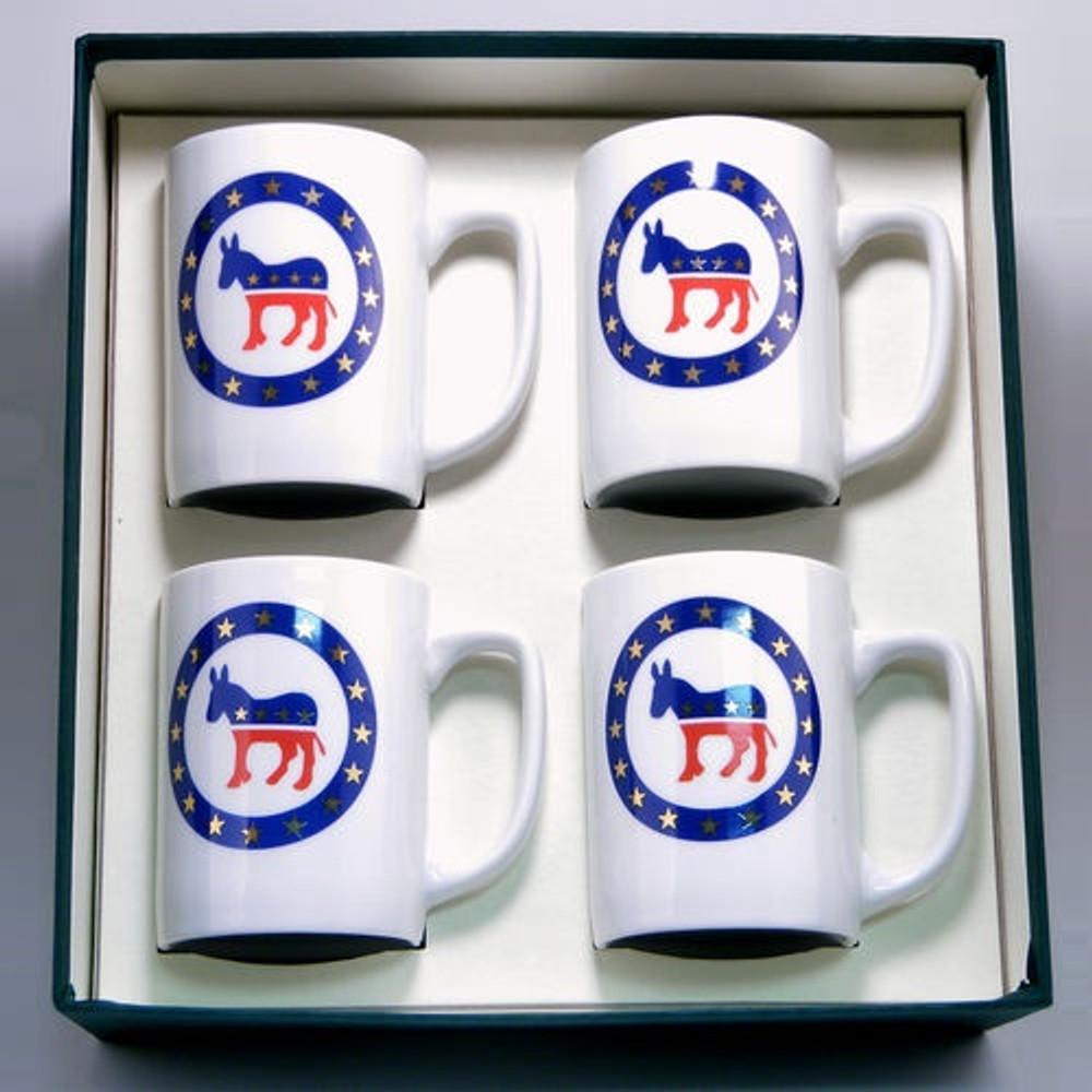 Democrat Donkey Porcelain Coffee Mug Set   Richard Bishop   5034DEM