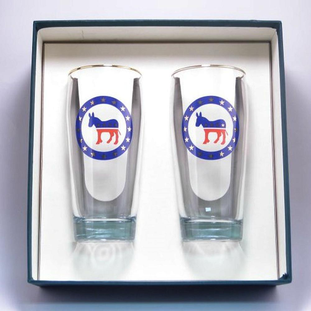 Democrat Donkey Beer Glass Set | Richard Bishop | 2043DEM