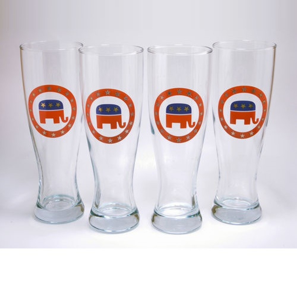 Republican Elephant Pilsner Glass Set | Richard Bishop | 2041REP