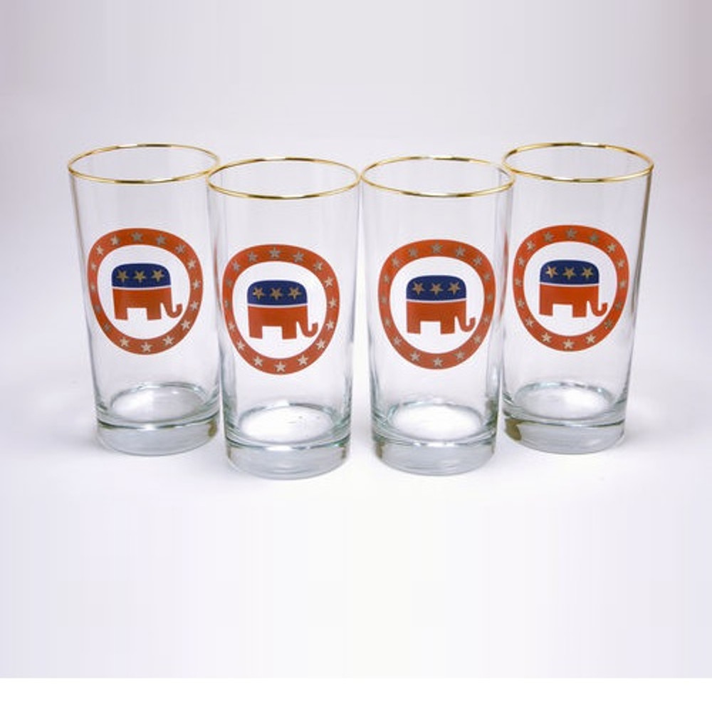 Republican Elephant Iced Tea Glass Set | Richard Bishop | 2020REP