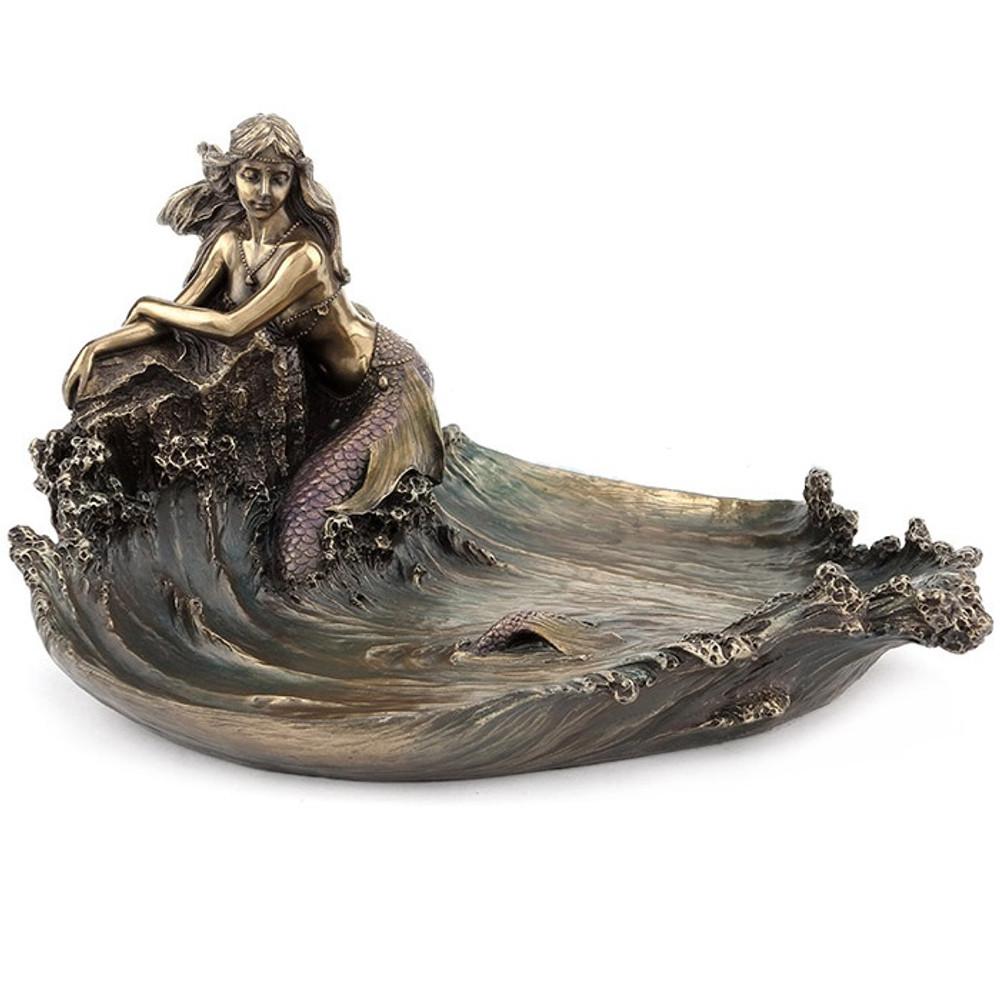 Mermaid on Rock Sculpture | Unicorn Studios | WU76042A4