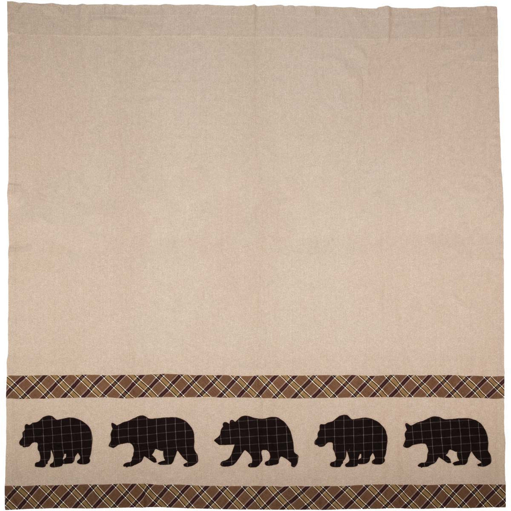 Bear Wyatt Shower Curtain   VHC Brands   34327 -2