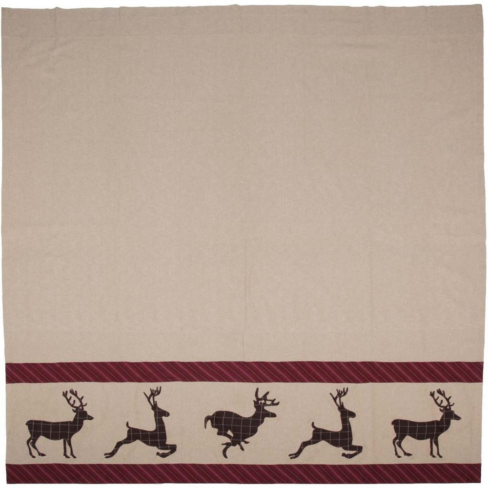 Deer Wyatt Shower Curtain | VHC Brands | 34328 -2