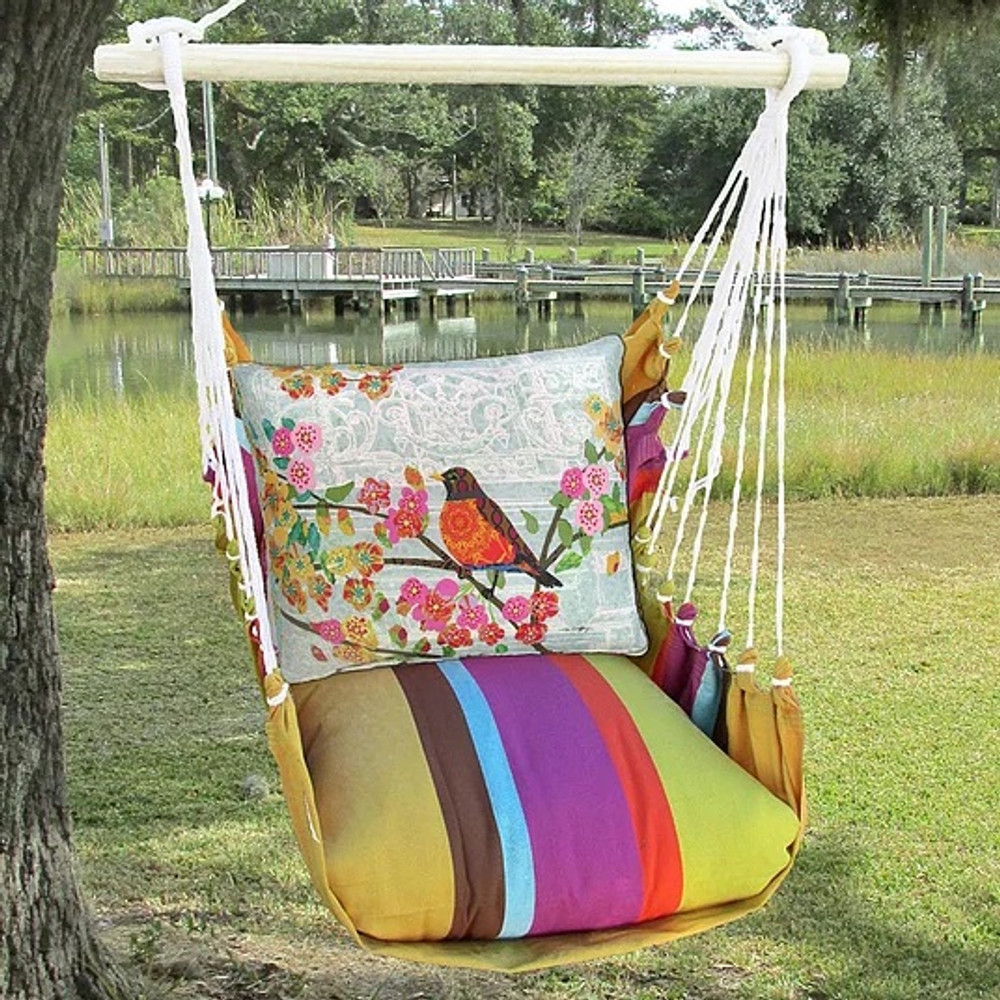 "Robin on Branch Hammock Chair Swing ""Cafe Soleil"" 