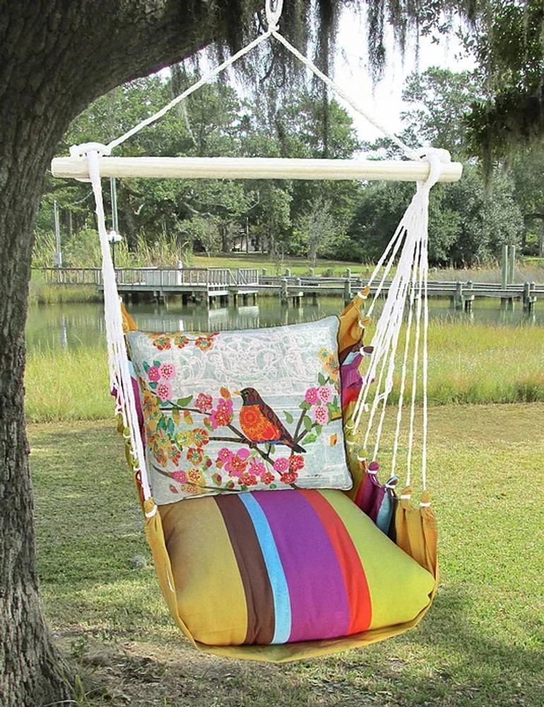 """Robin on Branch Hammock Chair Swing """"Cafe Soleil""""   Magnolia Casual   CFTC603-SP-2"""