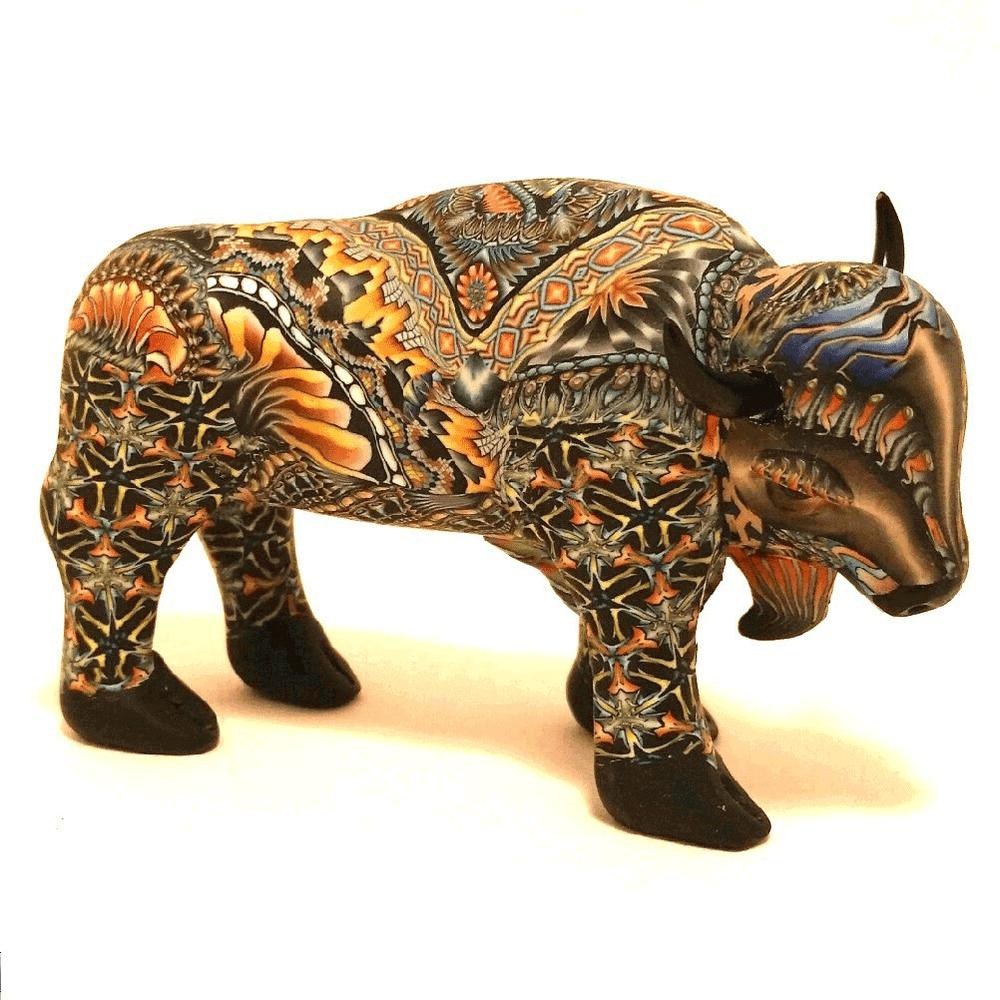 Buffalo Mama Figurine New | FimoCreations | FBUMN