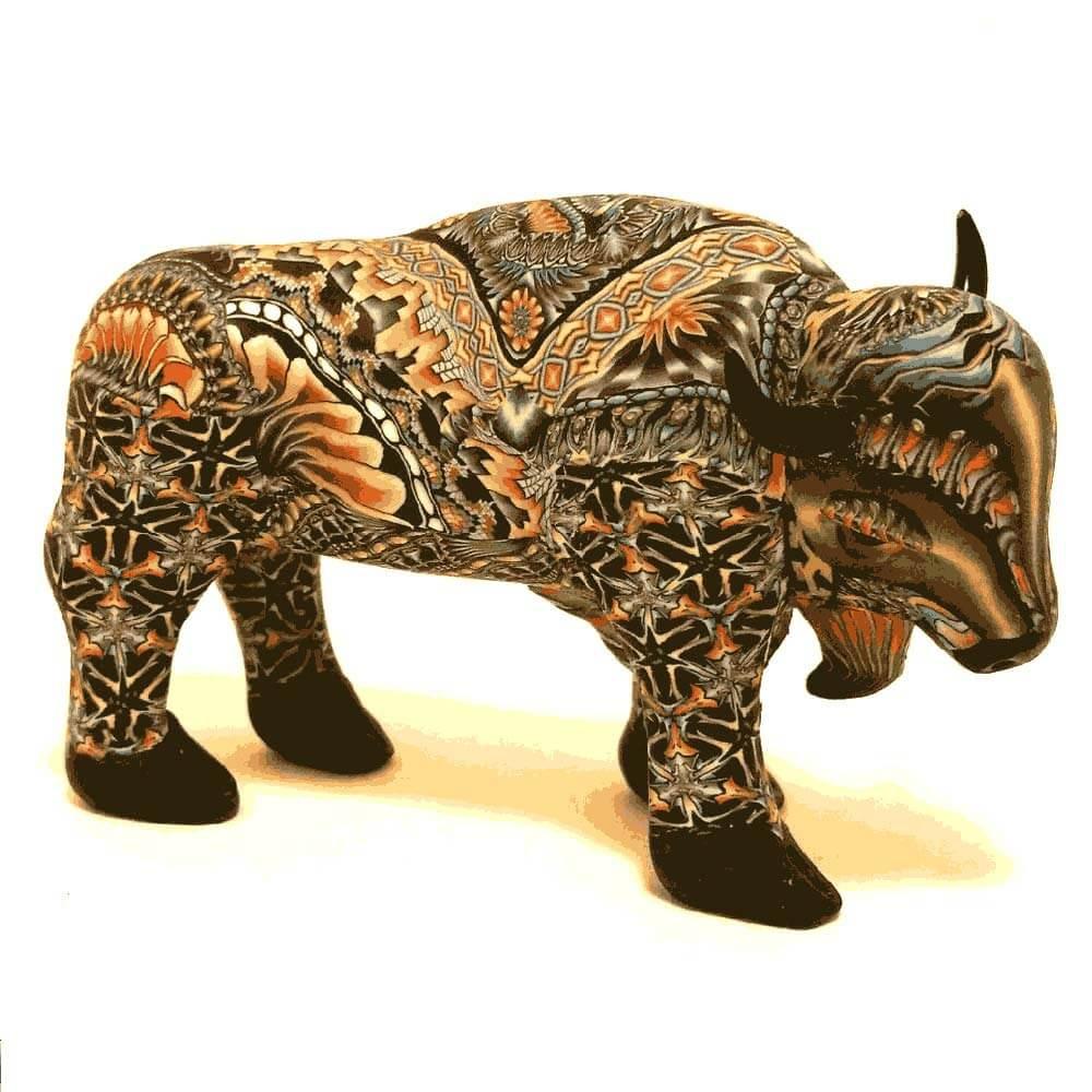 Buffalo Papa Figurine New | FimoCreations | FBUPN
