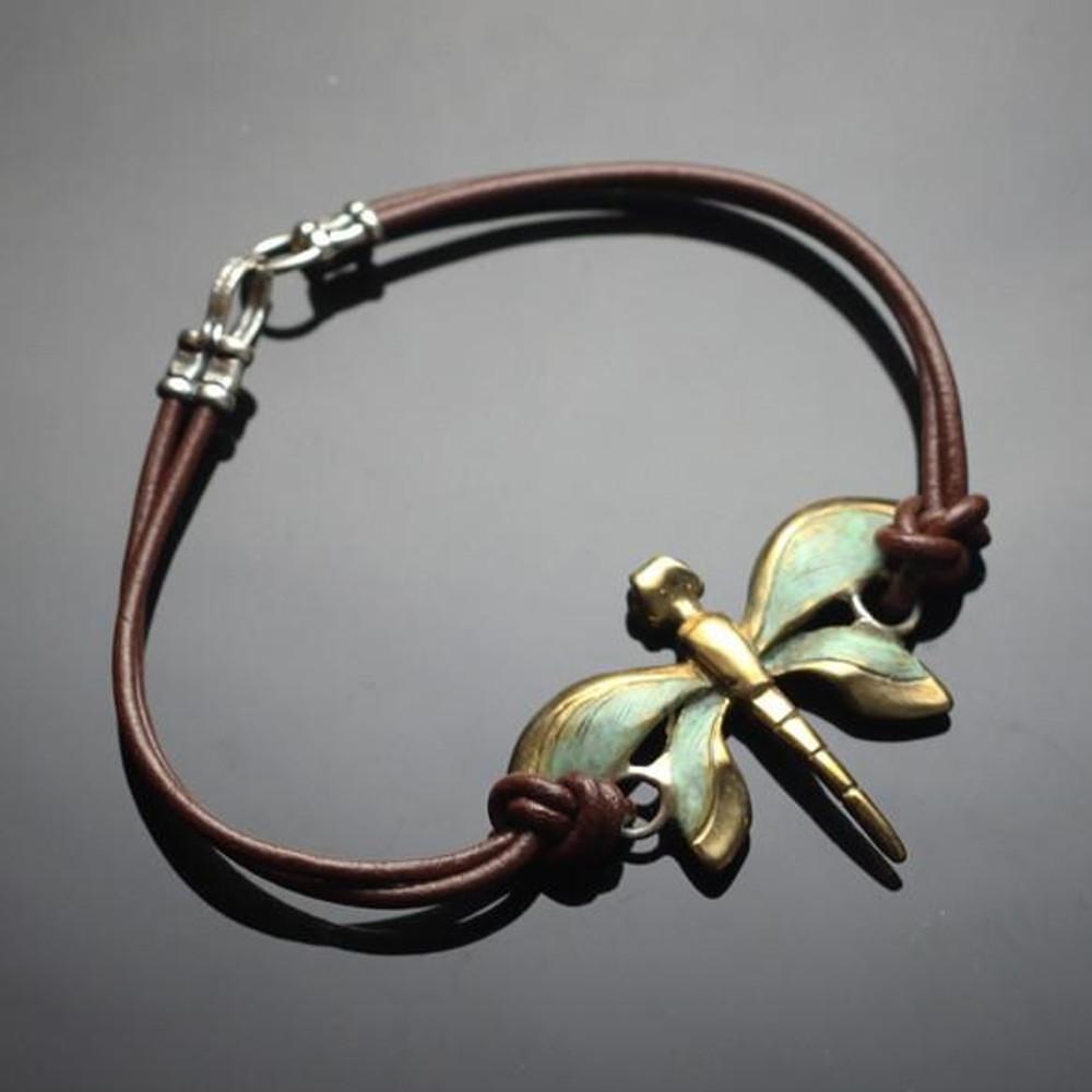 Dragonfly Bronze Pendant Bracelet | Anisa Stewart Jewelry | BRBW1020