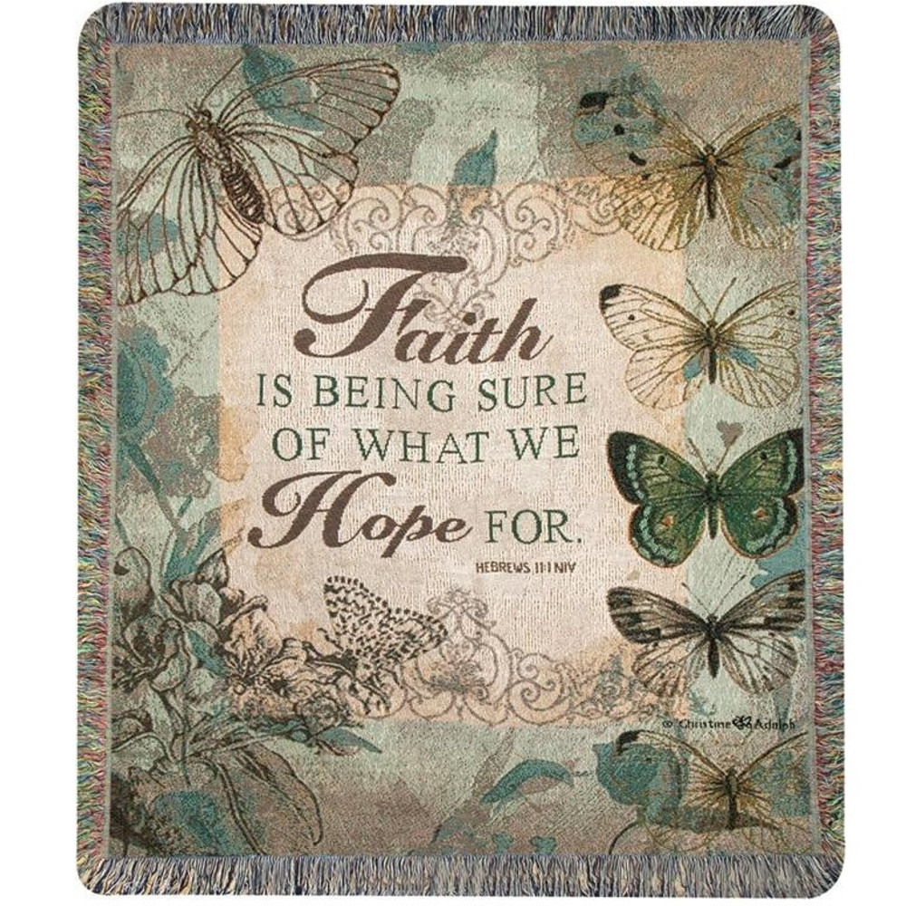 Butterfly Inspirational Tapestry Throw Blanket   Manual Woodworkers   ATFSUR