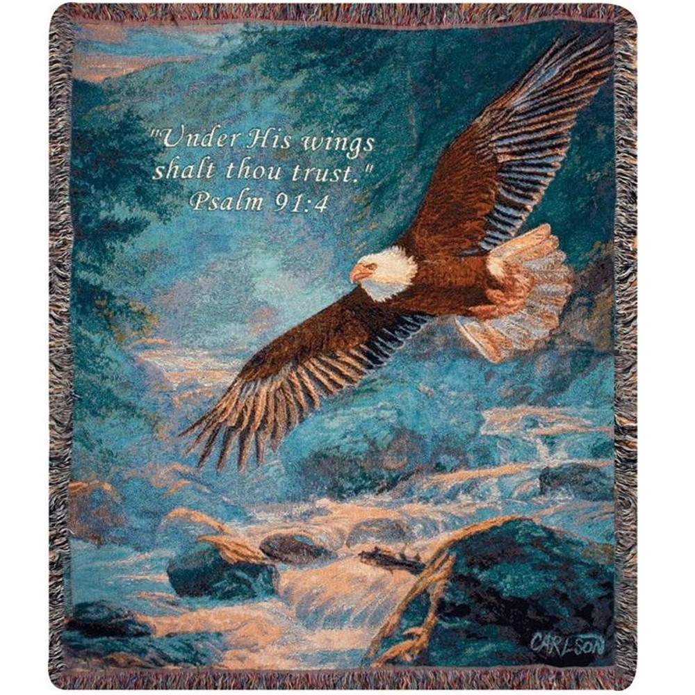 Eagle Inspirational Tapestry Throw Blanket | Manual Woodworkers | ATAMV