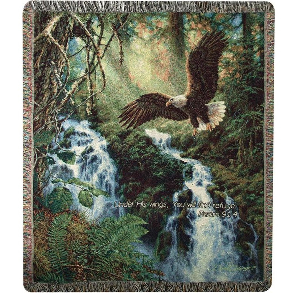 Eagle Inspirational Tapestry Throw Blanket | Manual Woodworkers | ATEFLV