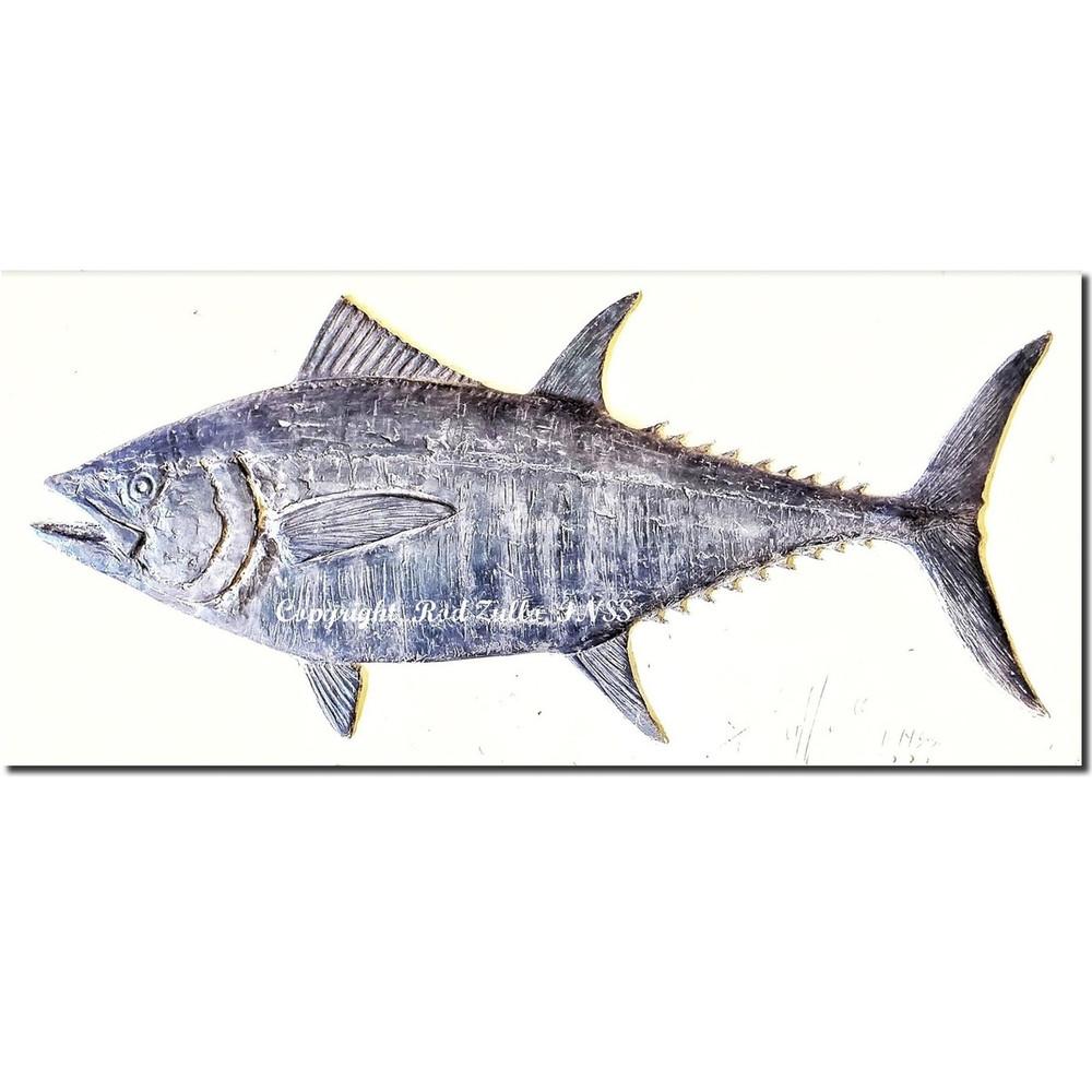 Bluefin Tuna Bas Relief Ltd Edition Wall Art | Rod Zullo