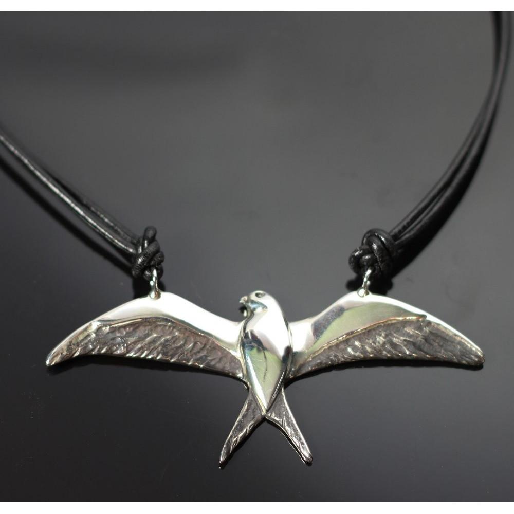 Swallowtail Kite Sterling Silver Pendant Necklace | Anisa Stewart Jewelry | ASJW1024N