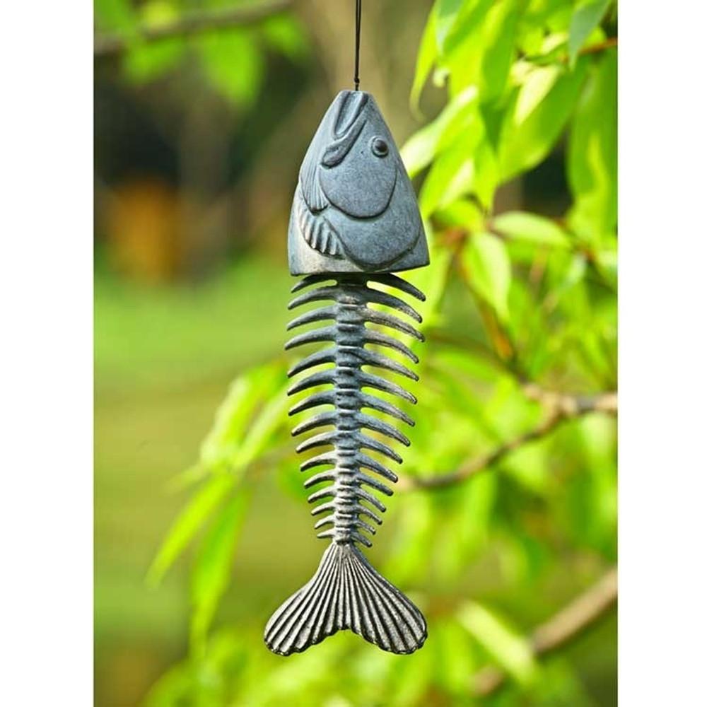 Fish Skeleton Wind Chime | SPI Home | 34637 -2
