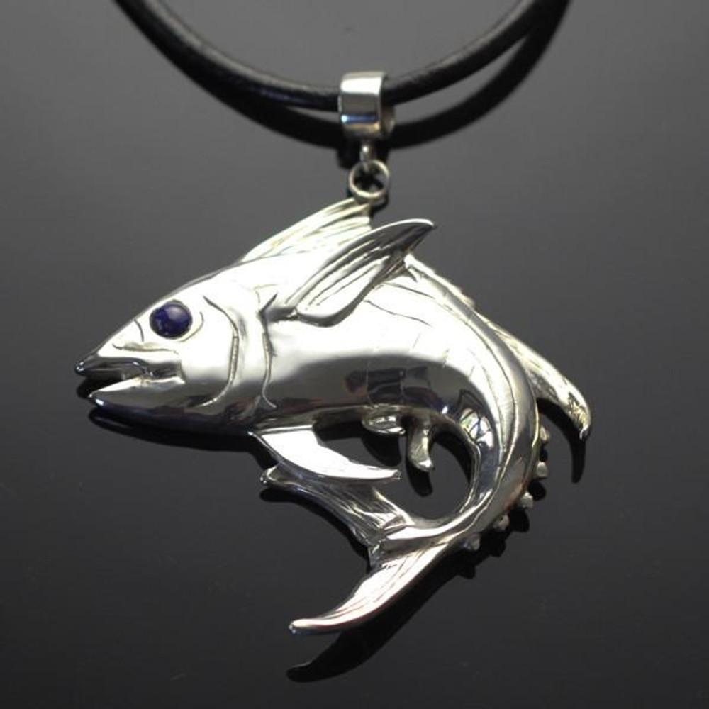 Yellowfin Tuna Silver Pendant Necklace | Anisa Stewart Jewelry | ASJF1020