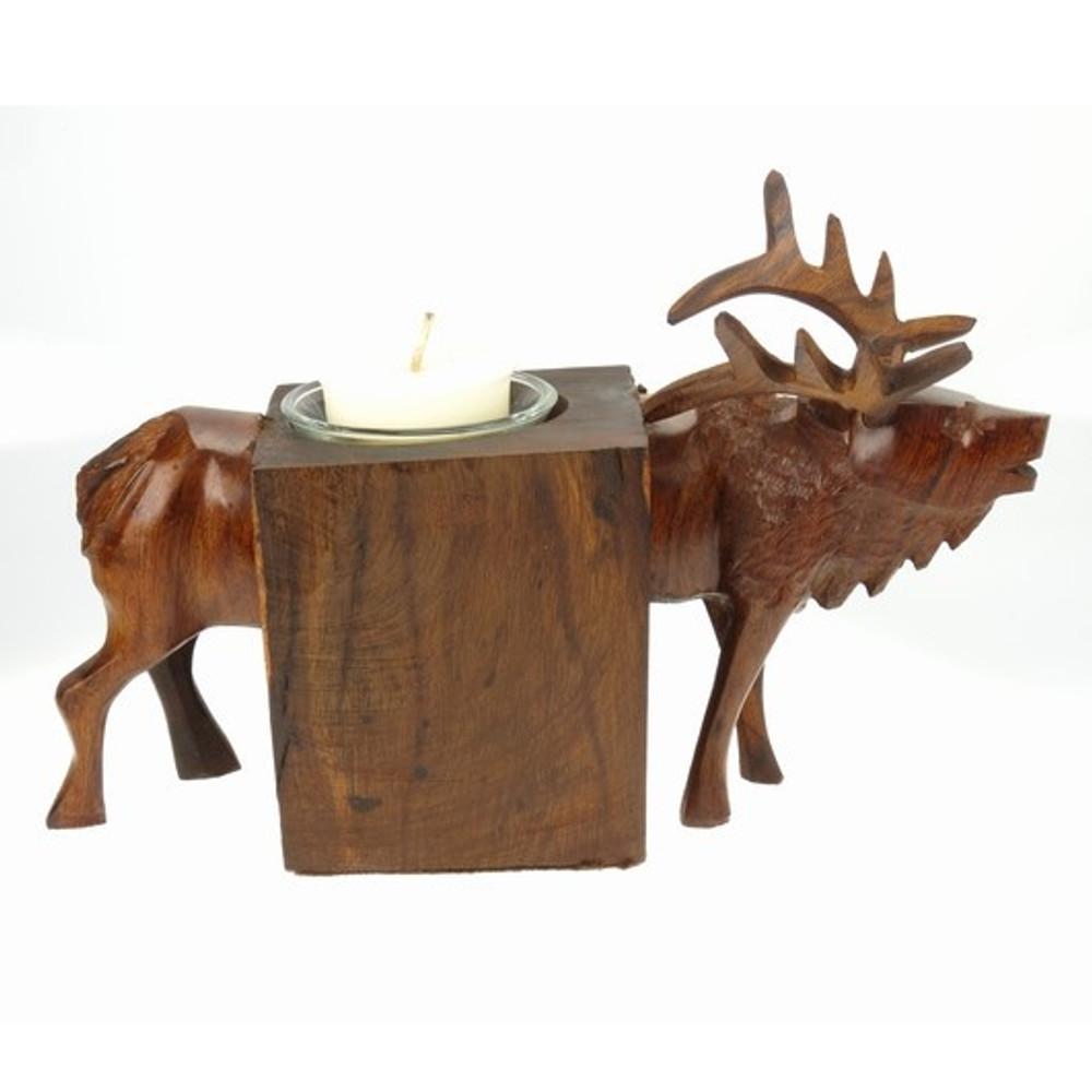 Elk Ironwood Candle Holder | Earthview | EV7882