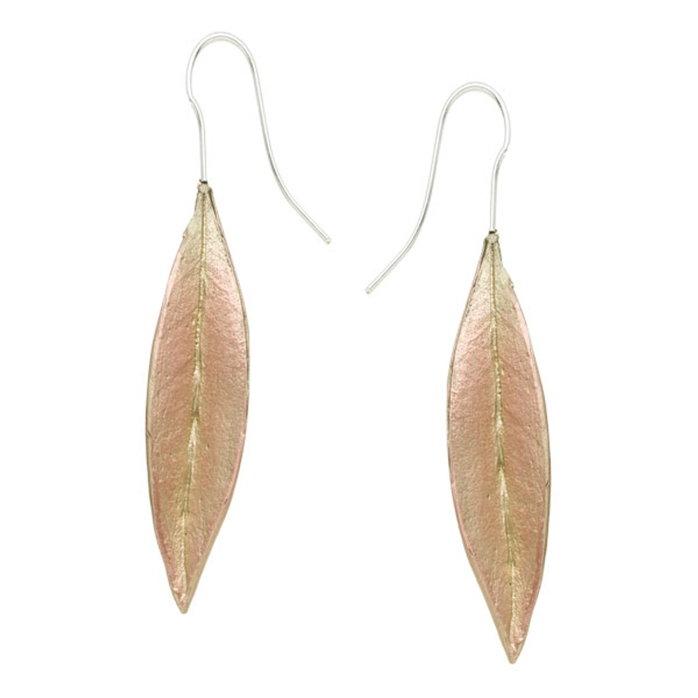 Ash Leaf Wire Earrings | Michael Michaud Jewelry | 3228BZAB