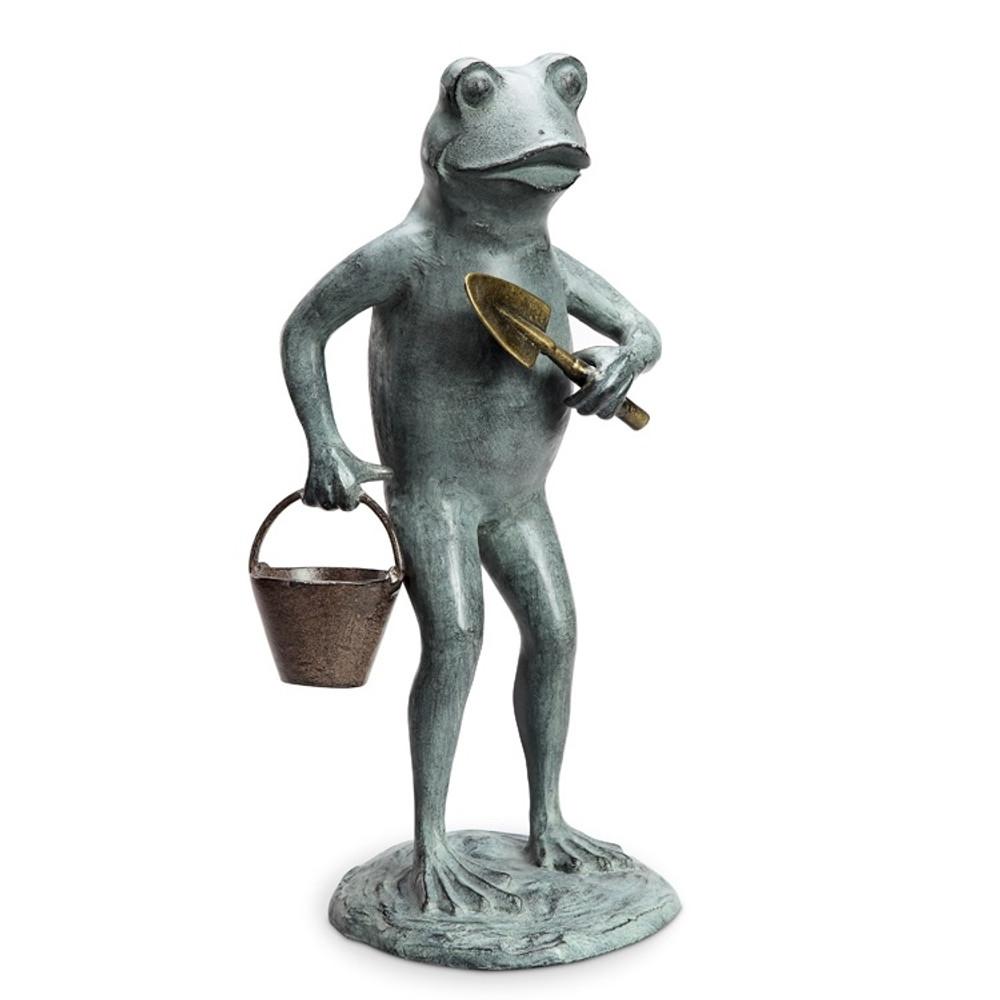 Frog Gardening Outdoor Sculpture | 34260 | SPI Home