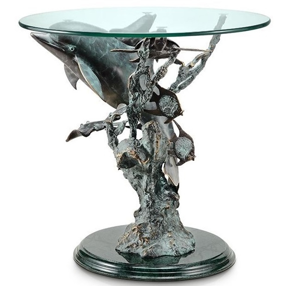 Dolphin Sea World End Table | 30307 | SPI Home -2