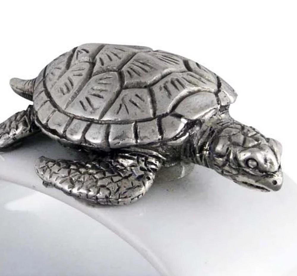 Sea Turtle Stoneware Napkin Ring Set of 4 | Vagabond House | O316T-4 -2