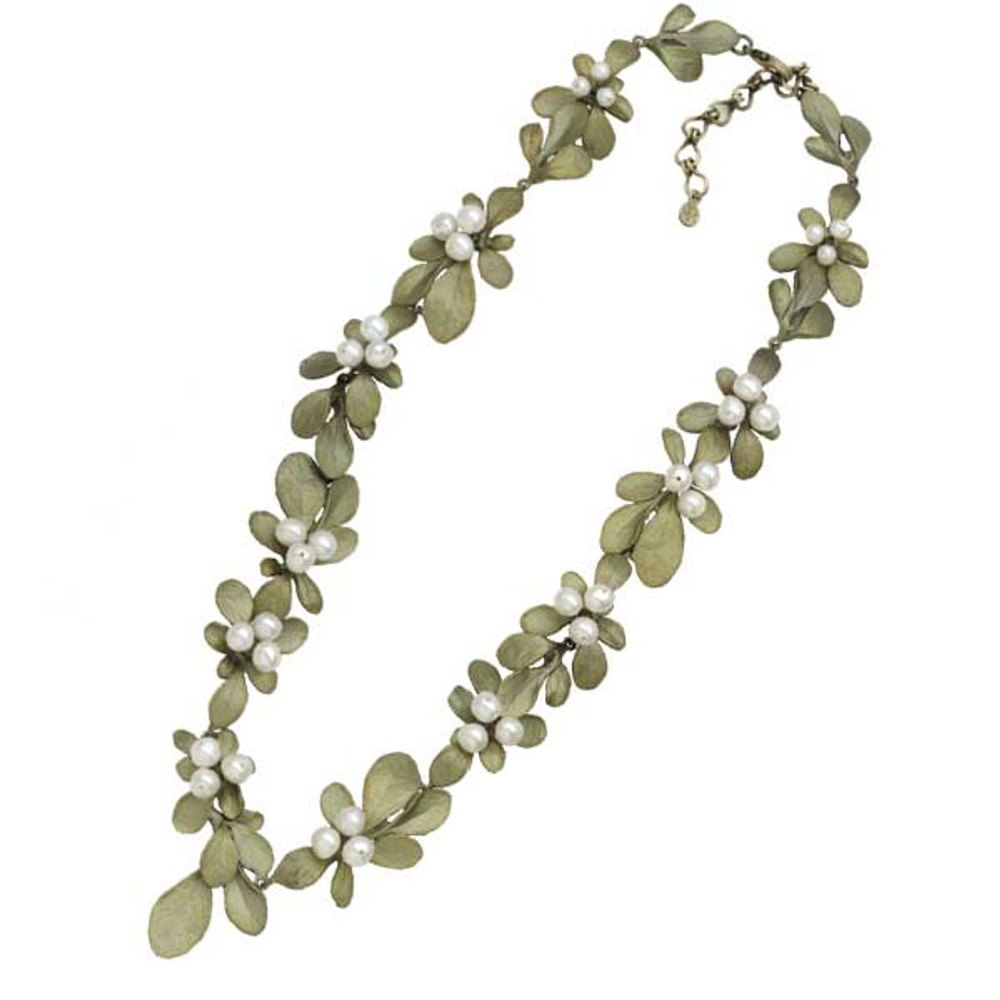 Barberry Pearl Cluster Necklace   Michael Michaud Jewelry   9122BZWP