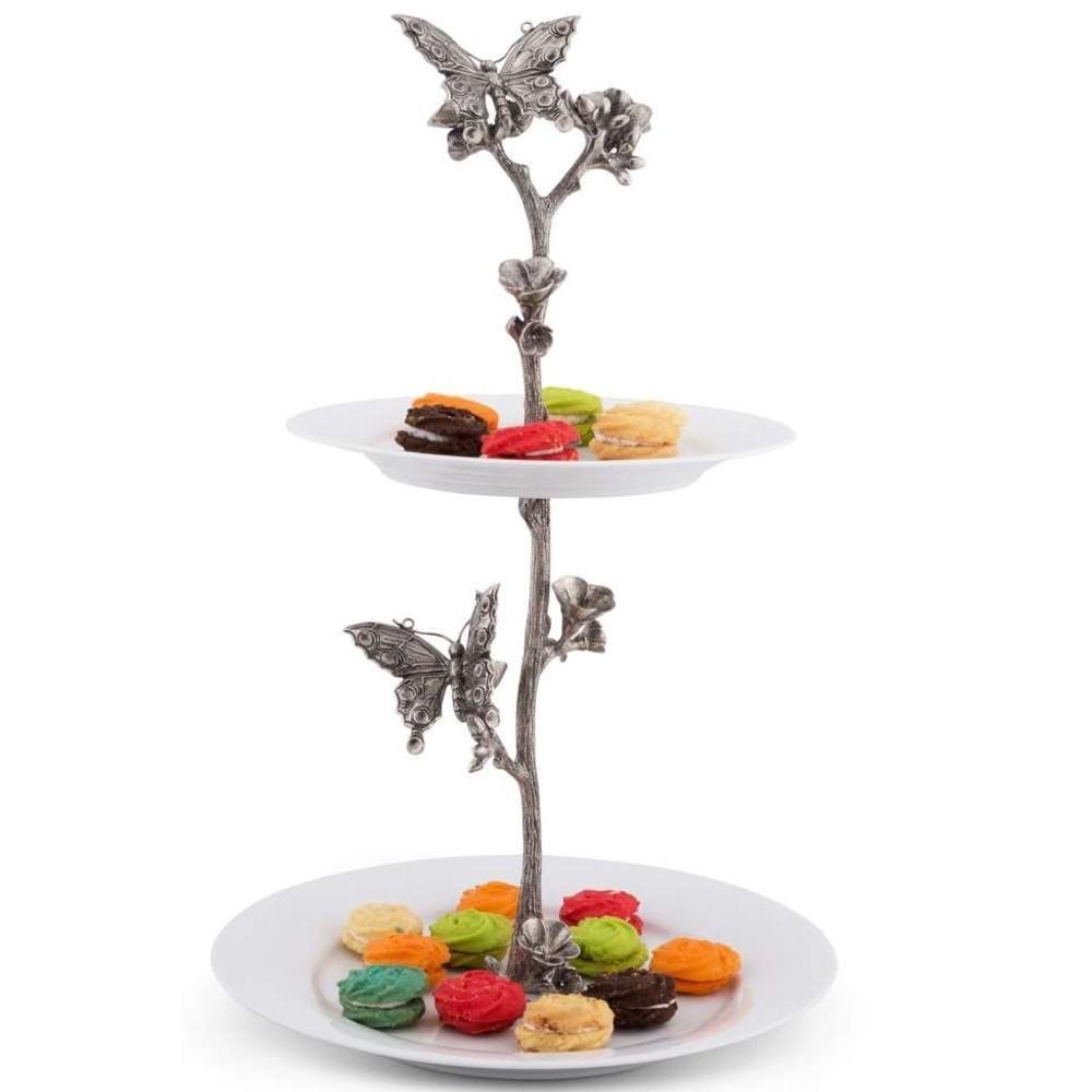 Butterfly Dessert Stand | Vagabond House | G328BF -2