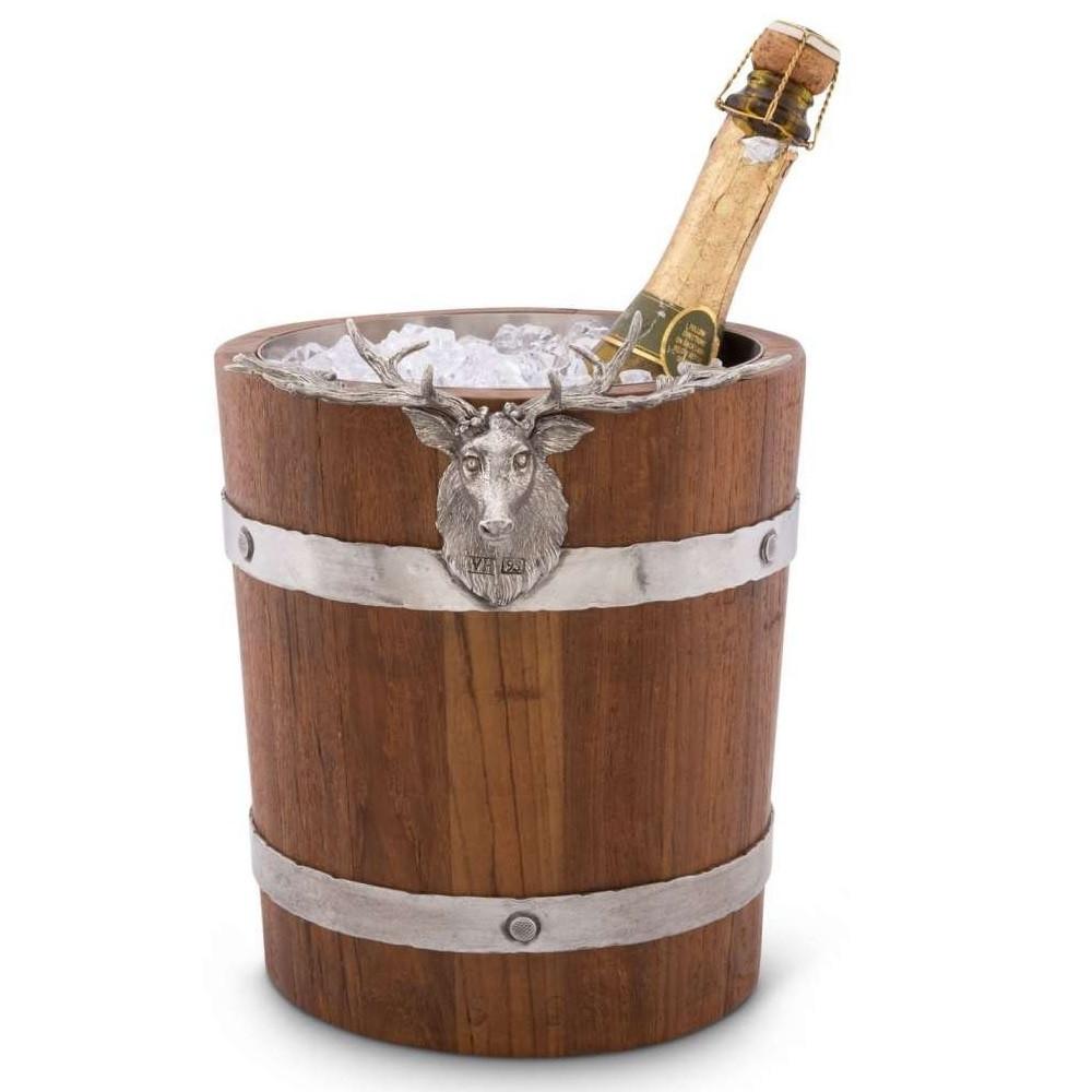Elk Wood Pail Ice Bucket | Vagabond House | B226EK