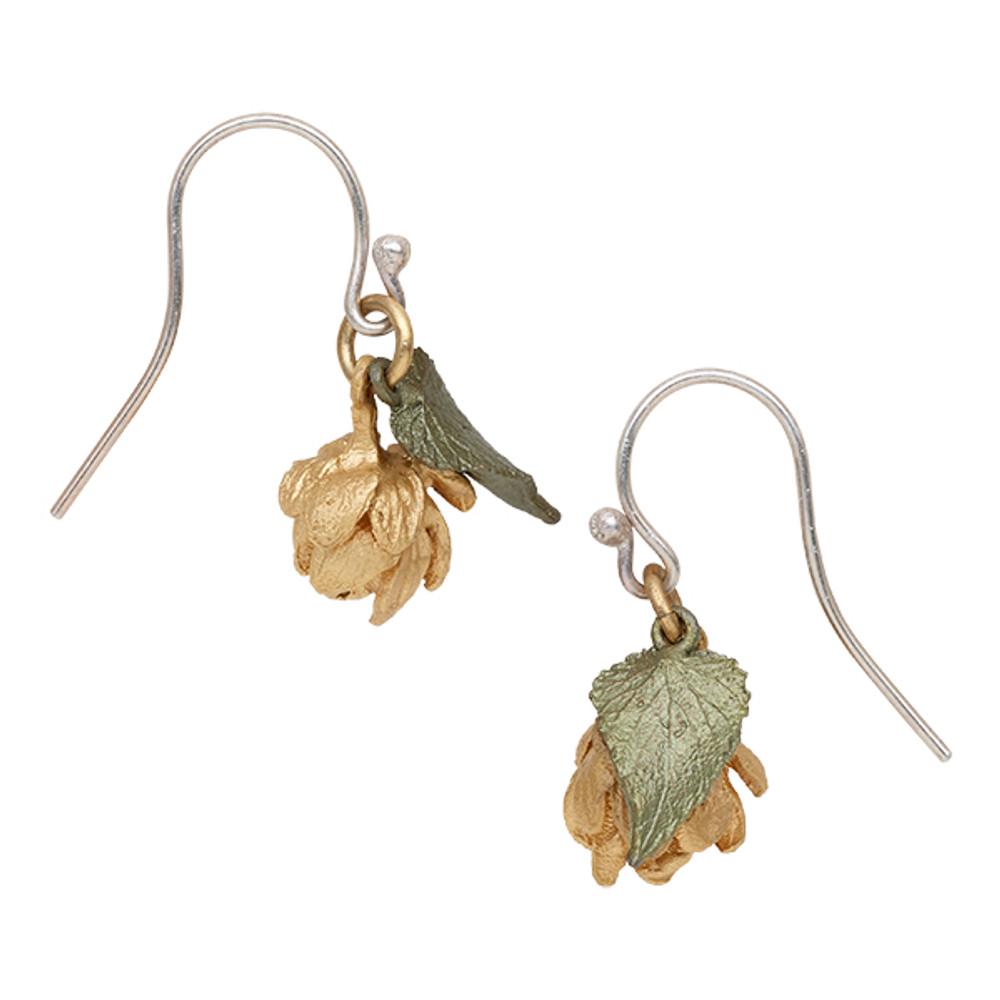 Hops Wire Earrings | Michael Michaud Jewelry | 3237BZG