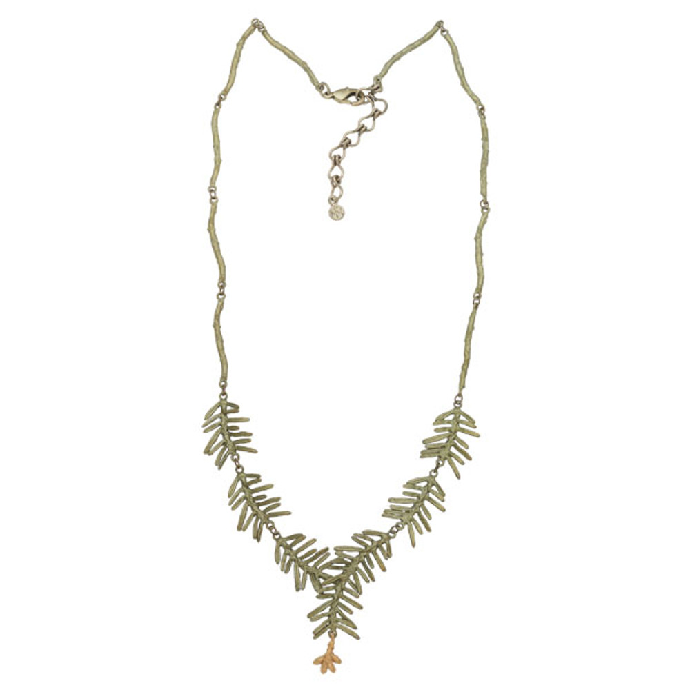 Petite Pine Y Necklace | Michael Michaud Jewelry | 9127BZG