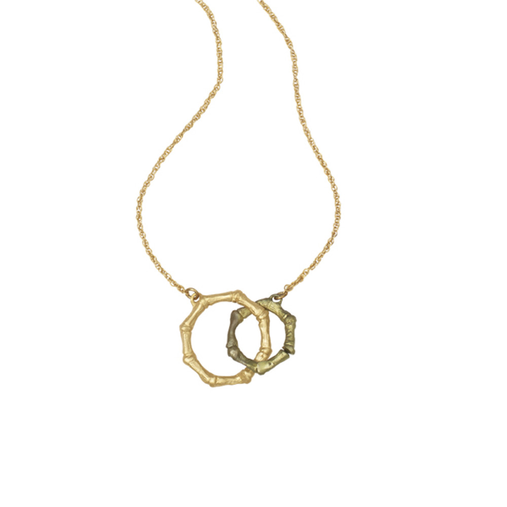 Bamboo Interlocking Circle Pendant | Michael Michaud Jewelry | 9088BZG
