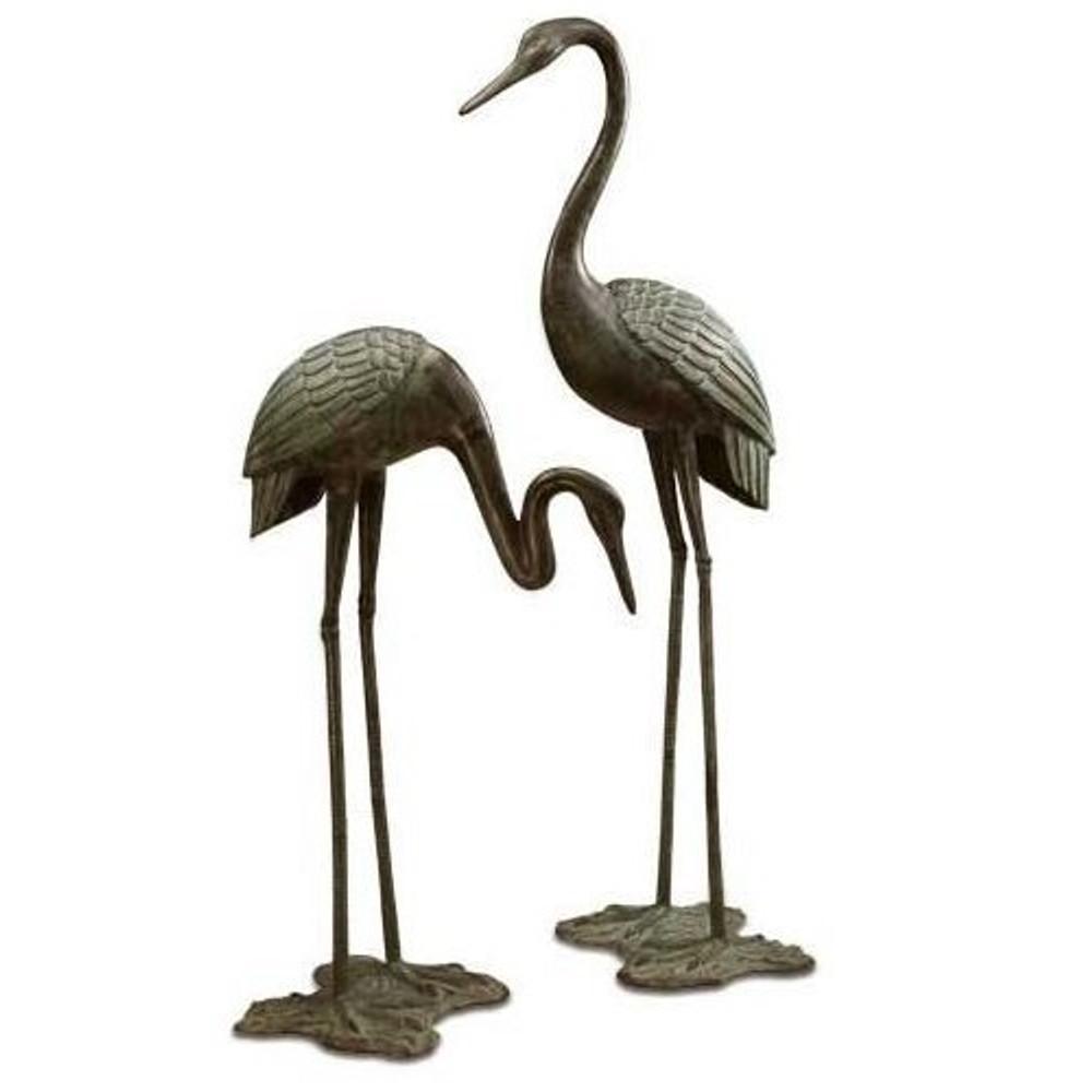 Garden Crane Garden Sculpture Pair | 33242 | SPI Home