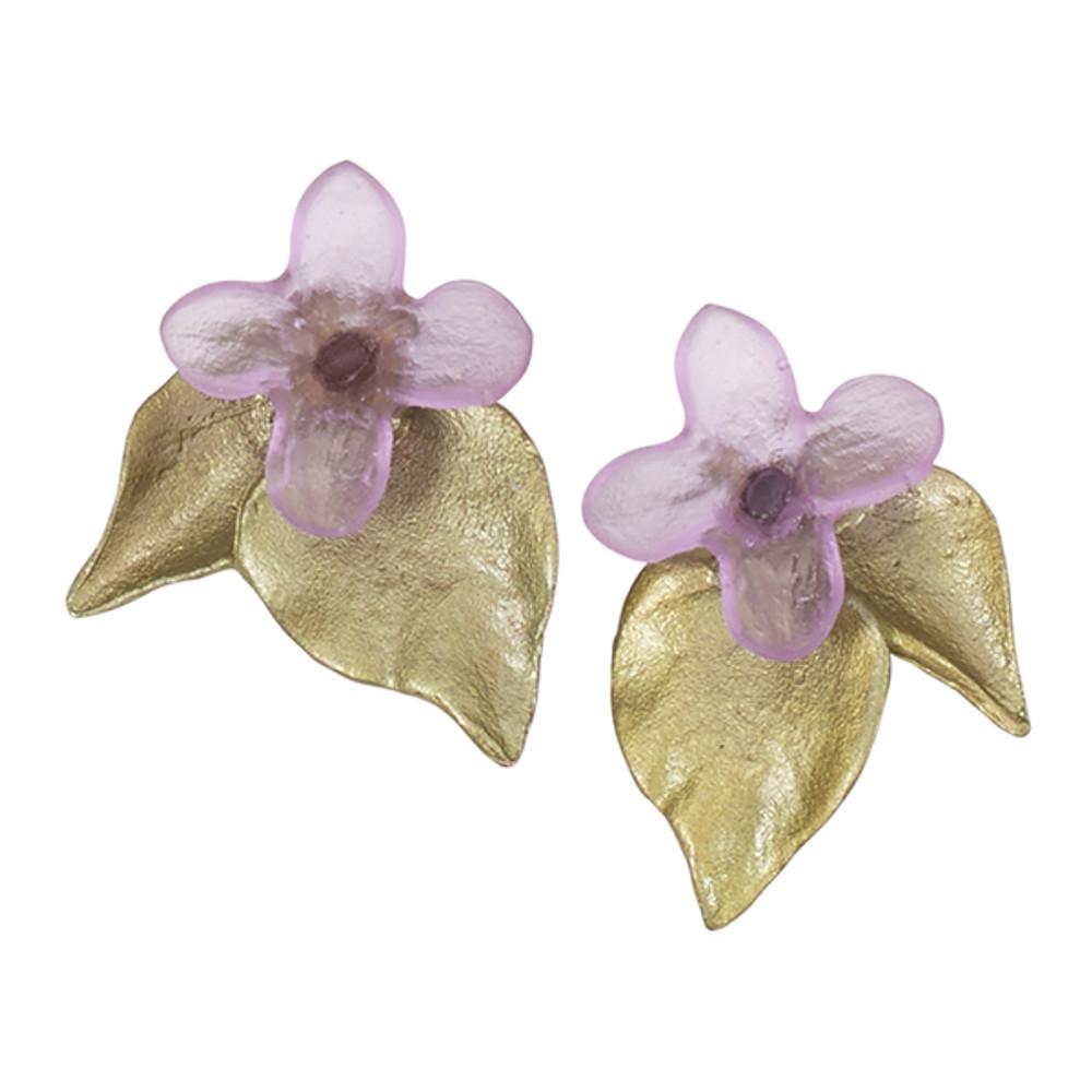 Lilac Flower Post Earrings   Michael Michaud Jewelry   3207BZ