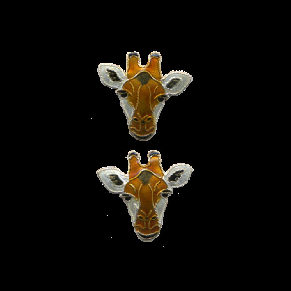 Giraffe Face Post Earrings | Bamboo Jewelry | BJ0214pe