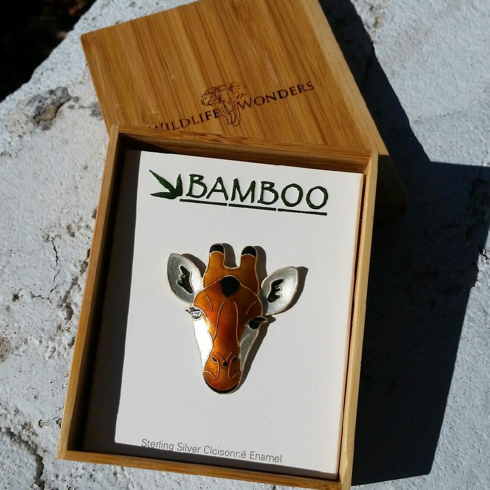 Giraffe Face Pin | Bamboo Jewelry | BJ0214p