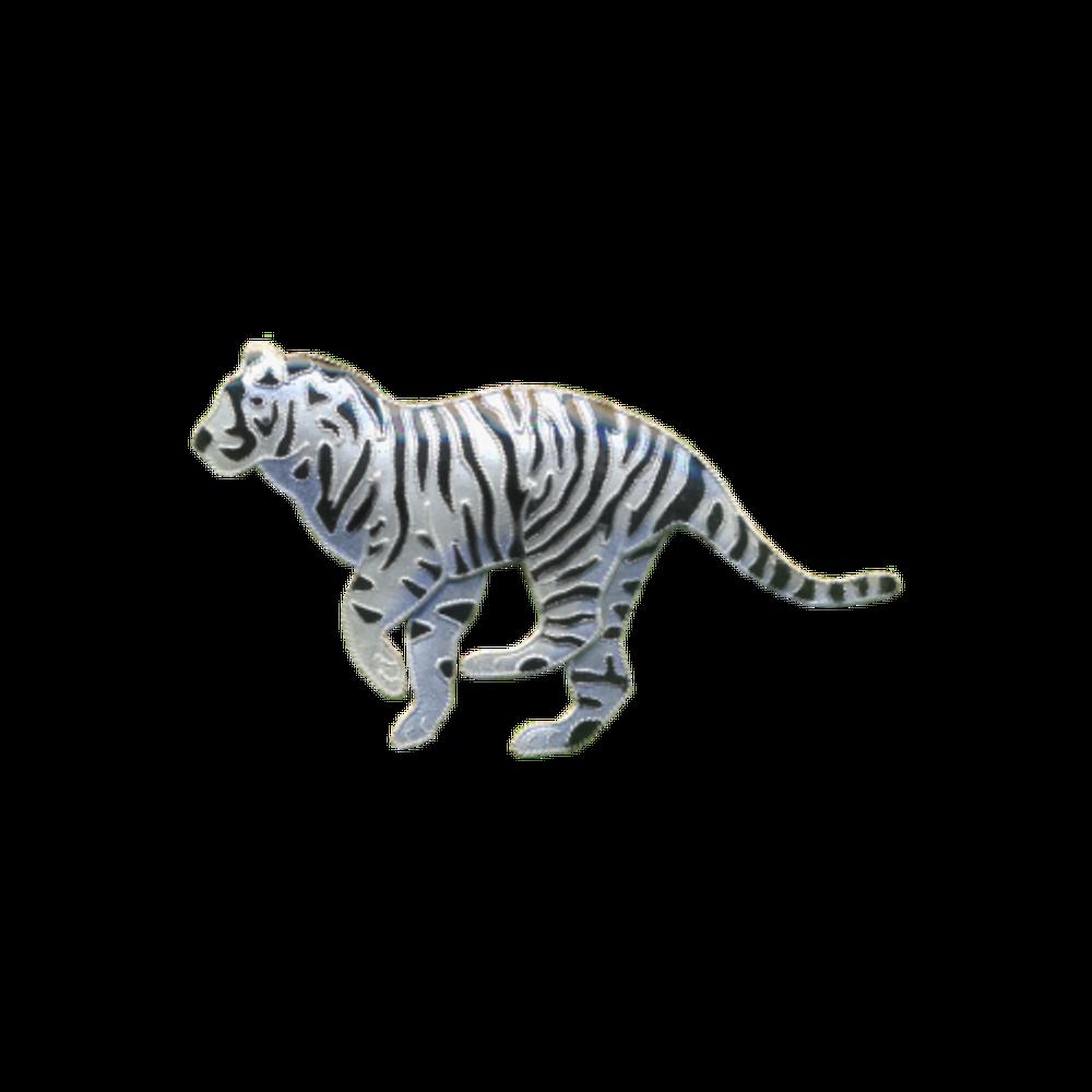 White Tiger Pin | Bamboo Jewelry | BJ0203p