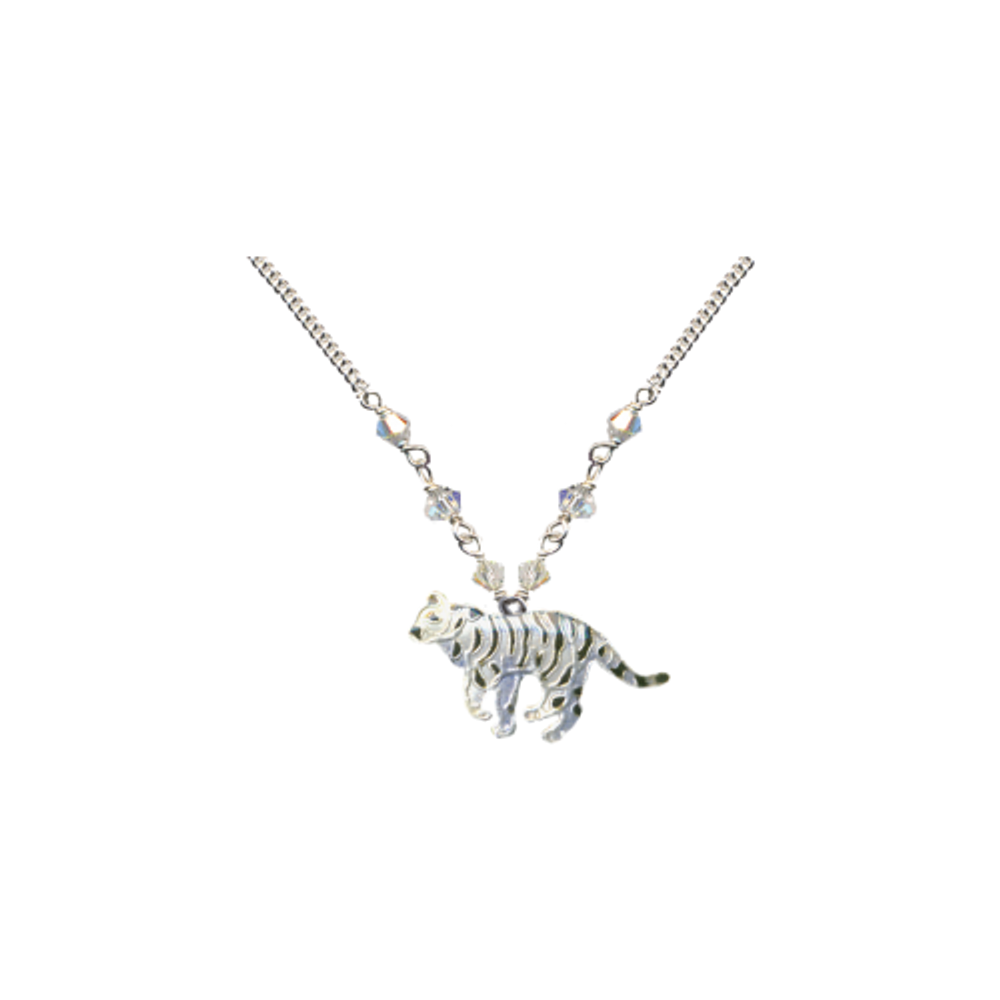 White Tiger Small Necklace | Bamboo Jewelry | BJ0203sn